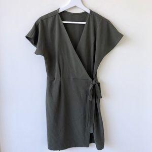 Dresses & Skirts - Wrap Olive Dress